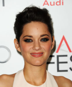 "HOLLYWOOD, CA - NOVEMBER 05: Actress Marion Cotillard arrives at the premiere of ""Rust and Bone"" during the 2012 AFI Fest presented by Audi at Grauman's Chinese Theatre on November 5, 2012 in Hollywood, California. (Photo by Jason Merritt/Getty Images)"